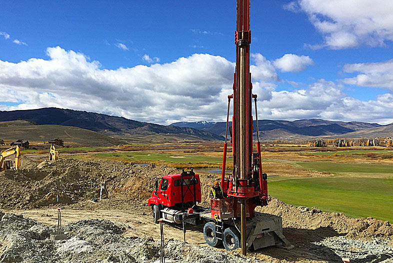concrete foundations - caisson drilling