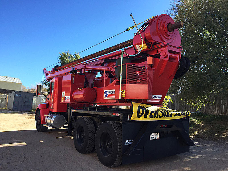 concrete foundations - caisson drilling rig